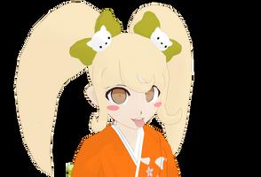 DL: Hiyoko Saionji  MMD model by Pokopokopikotan89