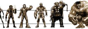 My favorite Avengers... by ARTofANT