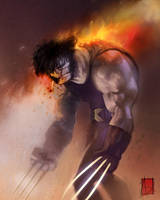 Wolverine is on Fire by ARTofANT
