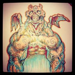 Three Eyed Demon by ARTofANT