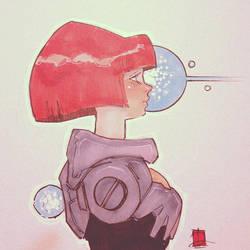 Retro Space Cutie by ARTofANT