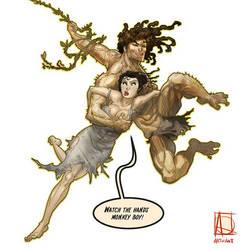 Tarzan, meet Jane! by ARTofANT