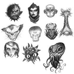 Monster Heads by ARTofANT