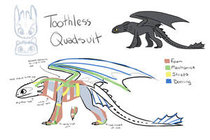 Toothless quadsuit idea by nooby-banana