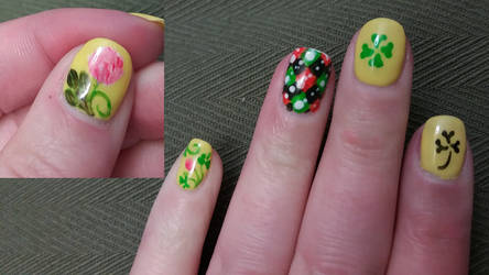 Saint Patrick's Day Nails by erarebirth