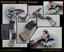 Borderlands Krieg's Buzz Axe Full Scale Cosplay by SKSProps