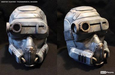 Destiny Hunter Cosplay Mask ThunderDevil Shader by SKSProps