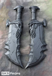 God of War Chaos Blades Cosplay WIP - SKS Props by SKSProps