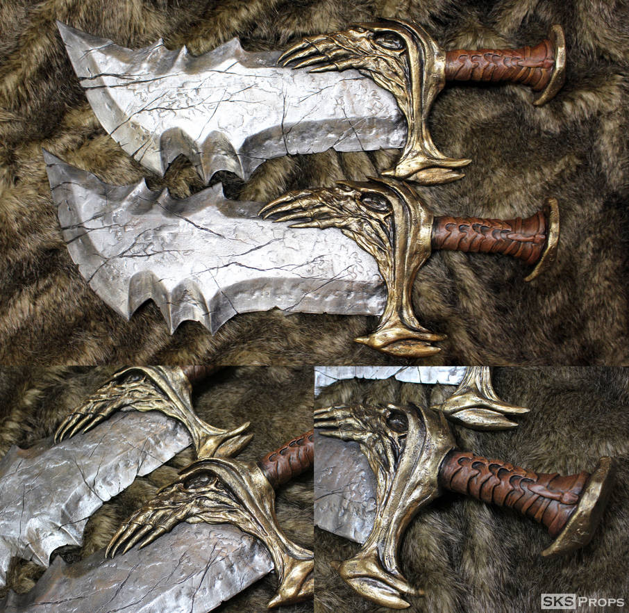 God of War Blades of Chaos Hand Sculpted SKSProps by SKSProps