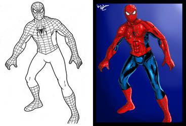 Recolor of SpiderMan (Left=Original, Right=D3NR0D) by D3NR0D