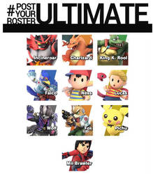 My Smash Ultimate Mains by Foxyfan7