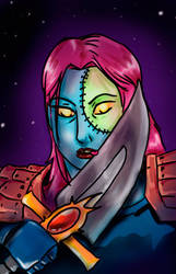 Female undead rogue by lyciphur