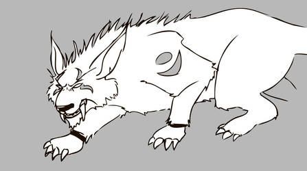 Night elf feral cat form by lyciphur