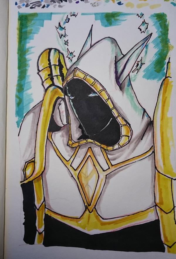 Night Elf priest t5 marker sketch by lyciphur