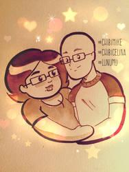 chibicelina and chibimike by ChibiCelina