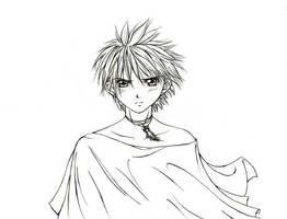 Daisuke WIP -lineart- by DragonSapphire