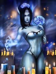 LoL - Ghost Bride Morgana/nsfw optional by eollynart