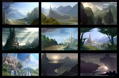 NGSoft Title Screen Thumbnails by NateHallinanArt