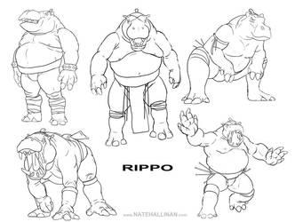 Rippo Sketches by NateHallinanArt
