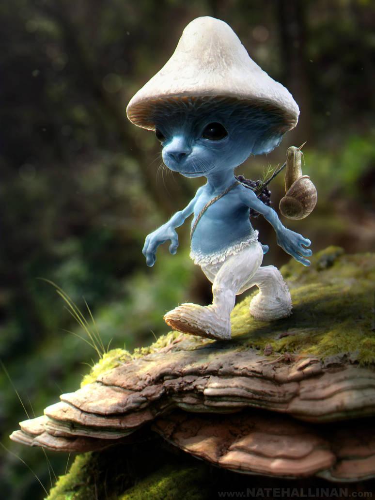 Smurf Sighting by NateHallinanArt
