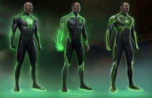 Green Lantern Concepts (John Stewart) by NateHallinanArt