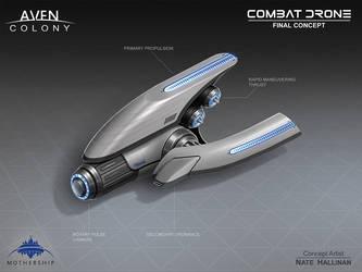 Combat Drone by NateHallinanArt