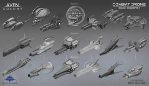 Combat  Drone Thumbs 1 by NateHallinanArt
