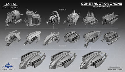 Construction Drone Thumbs by NateHallinanArt