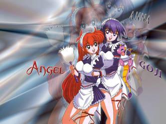 Wallpaper de Angel y Goji 5 by FrankiGarcia