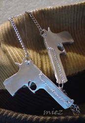 Desert Eagle Necklace by words-with-4-letters