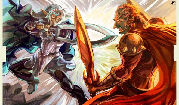 Battle of Hyrule's Giants by daremaker