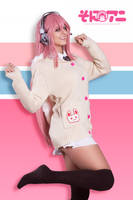 Bunny sweater Super Sonico by JubyHeadshot