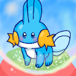 Mudkip for kippie :D by Fluffy-pawed