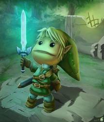 Sackboy Link [LittleBigPlanet X Zelda TP] by bat-19