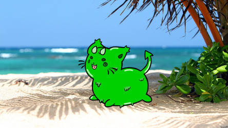 Slimy At The Beach by dragonight1993