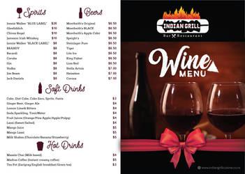 Wine Menu - Design by nanideviantart