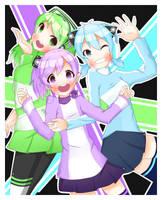 Cyber Sisters Redraw by TsunaUsui10