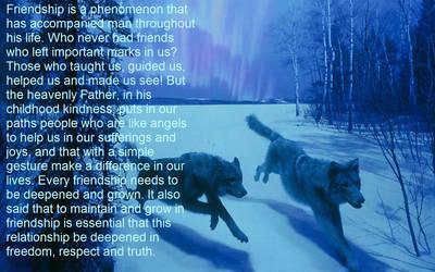 Wolf Friend 2 by roney2011