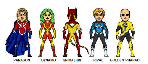OCs heroes, created by Tony (FrischDVH) by Opico