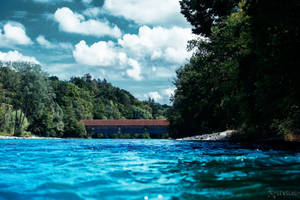 Covered Timber Bridge by LeWelsch