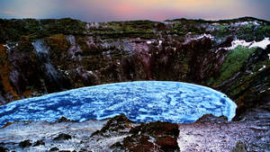 Kerio Volcano Crater Lake by LeWelsch