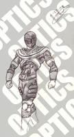 Gold Power Ranger by 0PT1C5