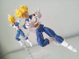 Super Saiyan Trunks and Super Saiyan Vegeta by 0PT1C5
