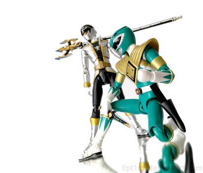 Dragon Ranger and Gokai Silver by 0PT1C5