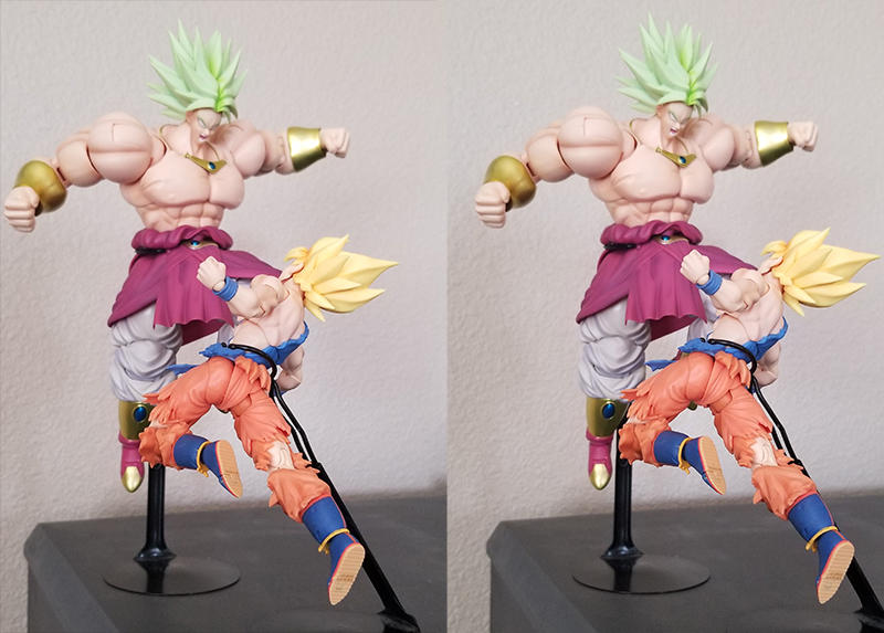 SS Goku vs Broly (Stereoscopic) #4 by 0PT1C5