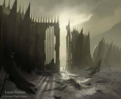 Gates of Carn Dum by AlcoholicHamster