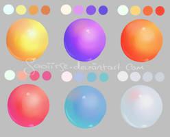 Mane Six Body Colors by Saoiirse