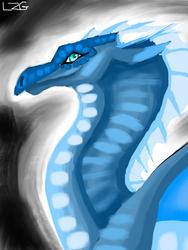 Blue Crescent by LedZeppelinGirl