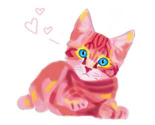 Valentine Kitten by LedZeppelinGirl