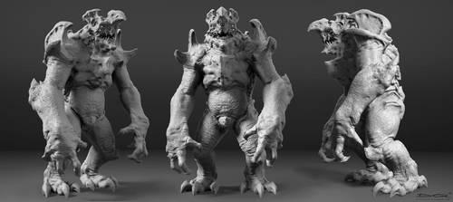 Kaiju (Hachiwara) by DominicQwek